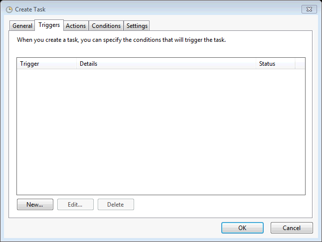 /></p> <p>Triggers are defined by many things, but we will focus on time. When the New Trigger dialog is set to &#8220;On a schedule&#8221; you can choose the time and frequency to run the collection. If you want to run a collection daily at 7:01:30AM each day the following settings should work:</p> <p><img class=