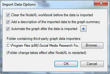 2014-NodeXL-Data-Import-Import Options-Data Importers