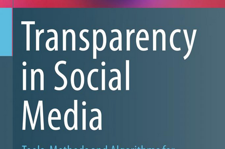 Book: Transparency in Social Media Edited by Sorin Matei, Martha Russell and Elisa Bertino – with a chapter on NodeXL